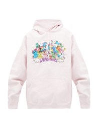 Vetements Unicorn Print Hooded Sweatshirt Light Pink