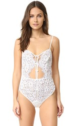 For Love And Lemons Kate Bodysuit White