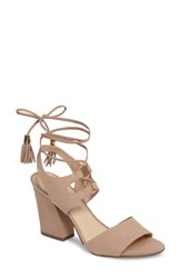 Klub Nico Women's Kaira Ankle Wrap Sandal Blush Nubuck Leather