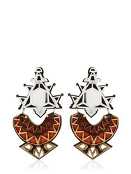 Anisha Parmar London Ivory Collection Triangles Earrings