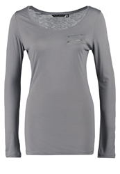 Fresh Made Long Sleeved Top Aspahlt Grey