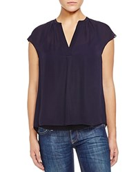 Zoa Cap Sleeve Silk Blouse Compare At 130