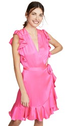 7 For All Mankind Sleeveless Ruffle Wrap Dress Paradise Pink