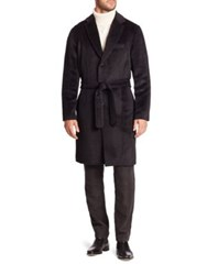 Ovadia And Sons Woolen Belted Waist Top Coat Black