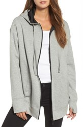 Kenneth Cole Women's New York Reversible Graphic Hoodie Heather Grey