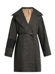 N 21 Prince Of Wales Checked Oversized Coat Grey Multi