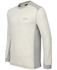 Greg Norman For Tasso Elba Men's Big And Tall Thermal Shirt Only At Macy's Cloud Heather
