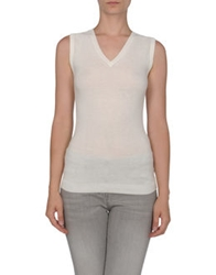 Dandg D And G Sleeveless Sweaters Ivory