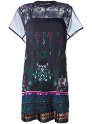 Sacai Tribal Lace Dress Black