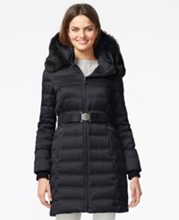 Dkny Quilted Down Puffer Parka Jacket Navy