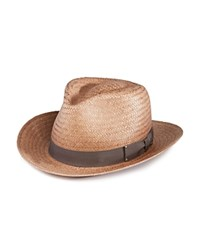 Bailey Of Hollywood Spencer Straw Fedora Oxford Tan