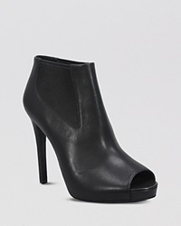 Ash Peep Toe Platform Booties Amber High Heel