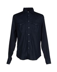 9.2 By Carlo Chionna Shirts Shirts Men Dark Blue