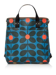 Orla Kiely Sixties Stem Small Backpack Blue