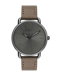 Coach 40Mm Delancey Slim Leather Watch Dark Green