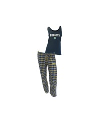 Concepts Sport College Concepts Women's Denver Nuggets Tank And Pajama Pants Set Navy Gold