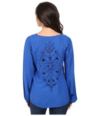 Ariat Kori Top Olympian Blue Women's Long Sleeve Pullover