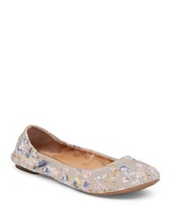 Lucky Brand Emmie Fabric Ballet Flats Grey Floral