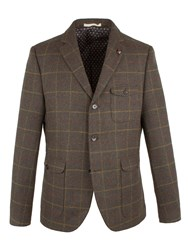 Racing Green Men's Conroy Check Blazer Dark Dark Green