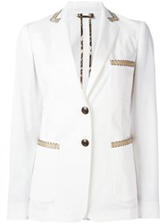 Etro Button Up Blazer White