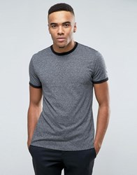 New Look Ringer T Shirt In Grey Grindle