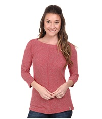 Woolrich Lakeside 3 4 Sleeve Knit Top Beet Women's Long Sleeve Pullover Red