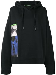 Dsquared2 Oversized Graphic Print Hoodie Black