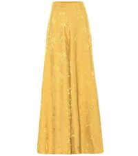 Johanna Ortiz Summer Love Wide Leg Pants Yellow