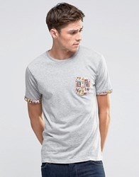 Brave Soul Pinup Pocket T Shirt Grey
