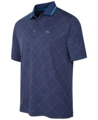 Greg Norman For Tasso Elba Men's Big And Tall Grid Performance Polo Only At Macy's Blue Socket