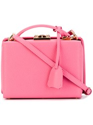 Mark Cross Small Grace Tote Women Calf Leather One Size Pink Purple