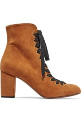 Chloe Suede Lace Up Boots Tan