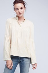 Anthropologie Manor Blouse Nude