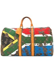 Jay Ahr South Africa Flag Vintage Louis Vuitton Keepall Brown