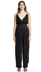 Kendall Kylie Ruched Jumpsuit Black