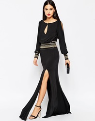 Forever Unique Mel Maxi Dress With Long Sleeves Black