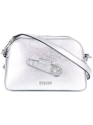 Versus Metallic Crossbody Bag Grey