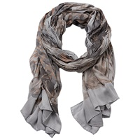 Betty Barclay Floral Print Scarf Grey Camel