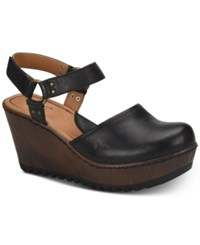 B.O.C. Rina Wedge Shoes Women's Shoes Black Leather