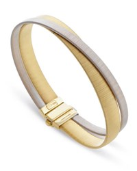 Marco Bicego Masai Two Strand 18K Yellow And White Gold Crossover Bracelet