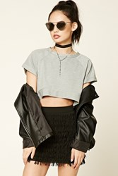 Forever 21 Layered Tassel Mini Skirt Black