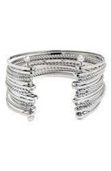Junior Women's Bp. Twisted Chain Multi Row Cuff Bracelet Silver