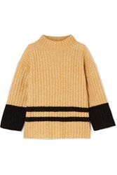 By Malene Birger Paprikana Striped Knitted Sweater Camel