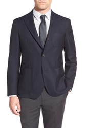 Strong Suit 'Dino' Trim Fit Solid Wool Blazer Blue