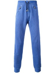 Just Cavalli Zipped Pockets Sweatpants Blue
