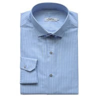 Made 4 Manifattura Italiana Chevron Cotton Shirt Blue