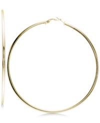 Giani Bernini Large Wire Hoop Earrings In 18K Gold Plated Sterling Silver Only At Macy's