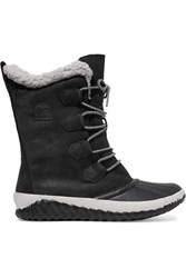 Sorel Out 'N Abouttm Plus Leather And Suede Boots Black