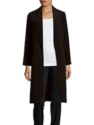 Abs By Allen Schwartz Solid Open Front Jacket Black