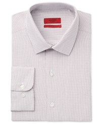 Alfani Red Men's Fitted Performance Burgundy Dobby Dress Shirt Only At Macy's